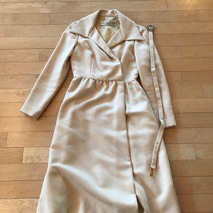 Vintage Mollie Parnis Belted Cocktail Dress